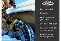 Snow Chains for Tires Autozone Amazon Trac Grabber – Snow Mud and Sand Tire Traction Device