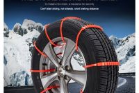 Tire Chains for Snow Anti Skid Snow Chains 10 Pcs Winter Driving Car Truck Suv Wheel